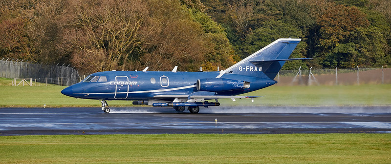 Dassault Falcon 20C (G-FRAW) at Prestwick Airport - 11 October 2019