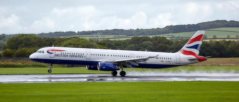 British Airways Airbus A321-231 (G-EUXI) at Prestwick Airport - 30 August 2018