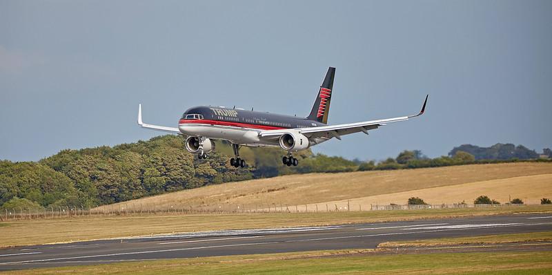 Boeing 757-2J4 (N757AF) at Prestwick Airport - 12 July 2018