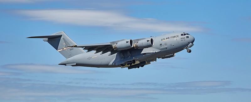 USAF Boeing C-17 Globemaster III - Wright Patt (10194) at Prestwick Airport - 6 May 2017