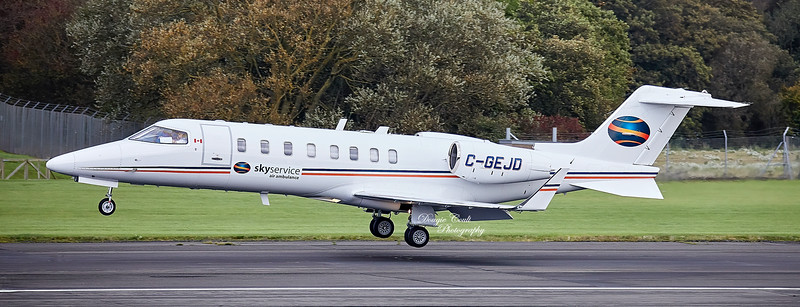Bombardier Learjet 45 (C-GEJD) at Prestwick Airport - 11 October 2019