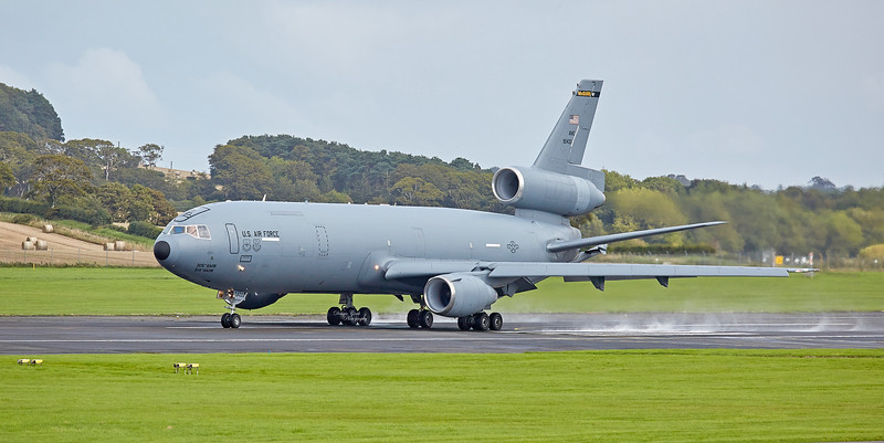 US Air Force McDonnell Douglas KC-10A Extender (79-0433) at Prestwick Airport - 30 August 2018
