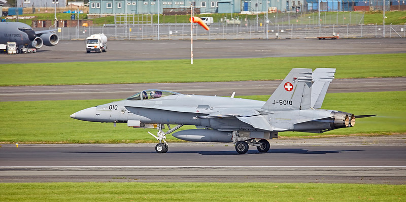 Swiss Air Force (J-5010) F/A-18C Hornet at Prestwick Airport - 29 August 2018