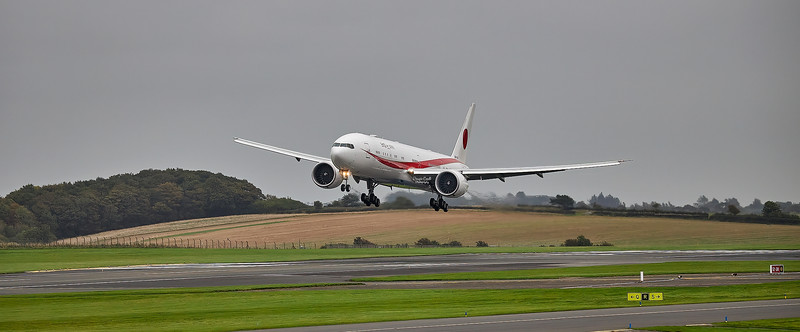 Japan Air Self Defence Force Boeing 777-3SBER (80-1112) at Prestwick Airport - 14 October 2021