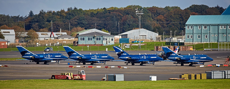 Falcons on 'Joint Warrior' Duty' at Prestwick Airport - 11 October 2016