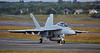 US Navy F-18 departing Prestwick Airport - 2 July 2016
