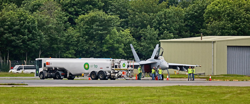 F/A-18F Super Hornet (AG-200) at Prestwick Airport - 5 June 2017