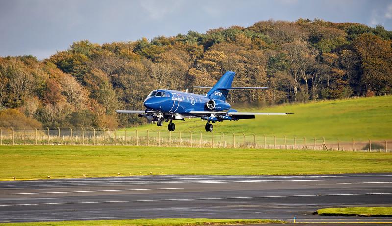 Dassault Falcon 20E (G-FRAF) at Prestwick Airport - 11 October 2019
