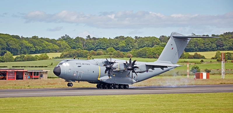 RAF Airbus A400M (ZM408) at Prestwick Airport - 7 June 201