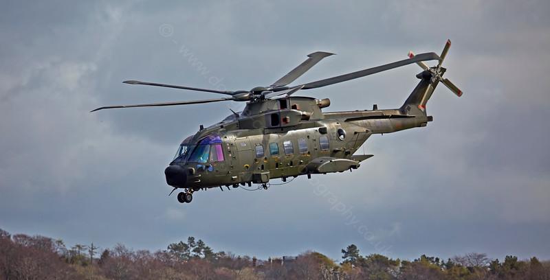 RAF Westland Merlin HC3A - ZJ998/AE at Prestwick - 15 April 2015