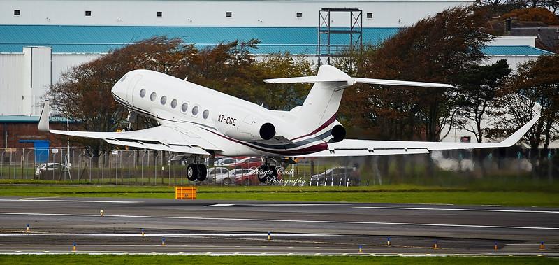 Gulfstream G650ER (6301) at Prestwick Airport - 11 October 2019