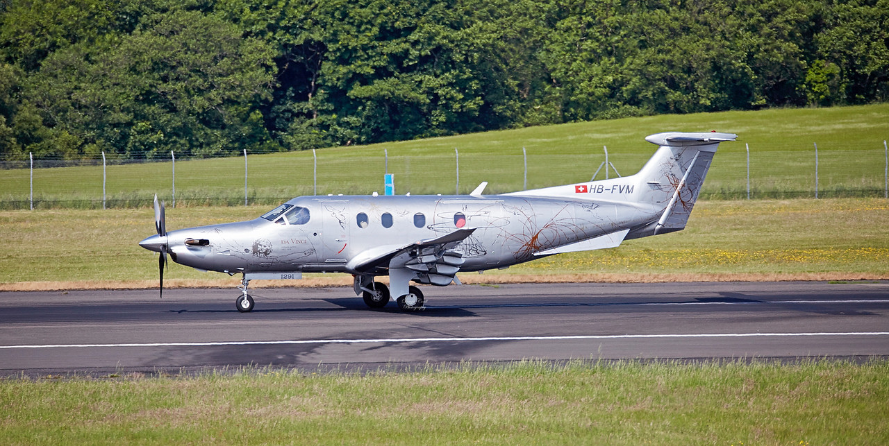 Pilatus PC-12/47E (HB-FVM) at Prestwick Airport - 10 June 2018