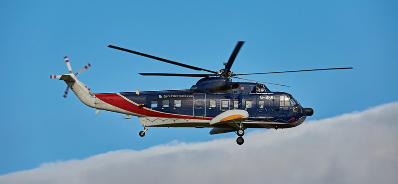 Sikorsky S-61N (G-BFRI) at Prestwick Airport - 11 October 2016