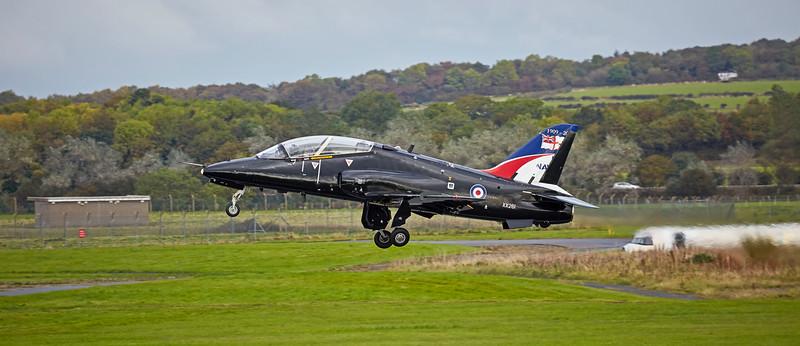 RAF British Aerospace Hawk T.1A (XX261) at Prestwick Airport - 11 October 2016