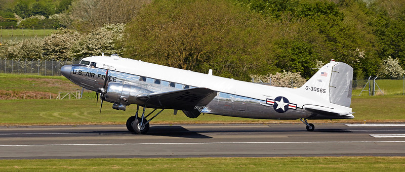 """Miss Virginia"" C-47A N47E  at Prestwick Airport - 22 May 2019"