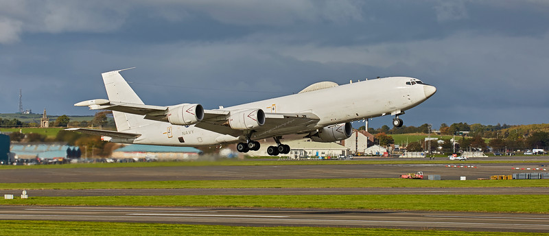 US Navy Boeing E-6B (164386) at Prestwick Airport - 11 October 2016