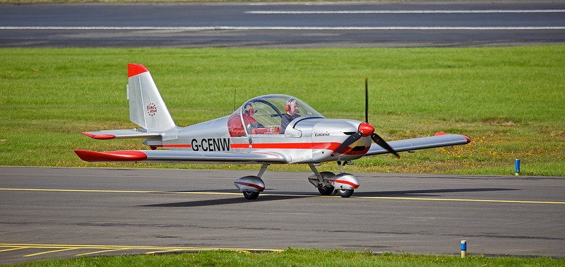 Evektor-Aerotechnik EV-97A Eurostar (G-CENW) at Prestwick Airport - 30 August 2018