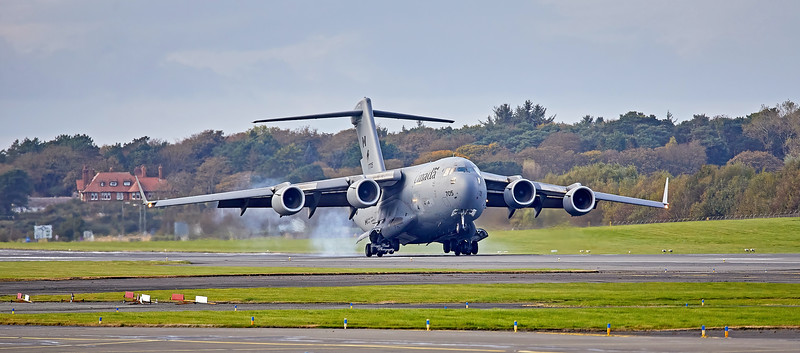 Boeing CC-177A Globemaster III (17705) at Prestwick Airport - 14 October 2020