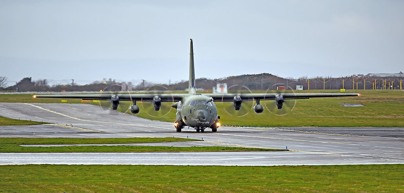 RAF Lockheed Martin Hercules C.4 (ZH870) at Prestwick Airport - 8 December 2020at Prestwick Airport - 8 December 2020