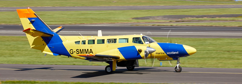 Department of Agriculture and Fisheries Reims-Cessna F406 Caravan II (G-SMMA) at Prestwick Airport - 9 August 2018