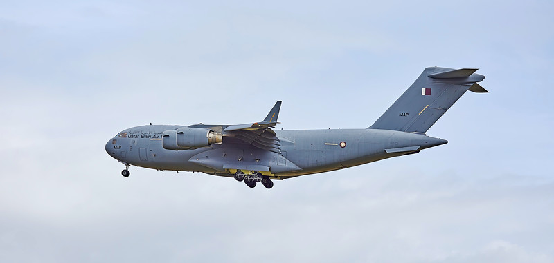 Qatar Emiri Air Force C17 Globemaster (LHOB246) at Prestwick Airport - 2 August 2020