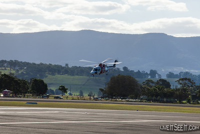 RAAF Search and Rescue Helicopter provided by CHC Helicopters for RAAF Roulettes display