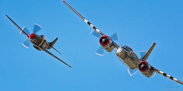 Douglas A-26B Invader & North American P-51D Mustang