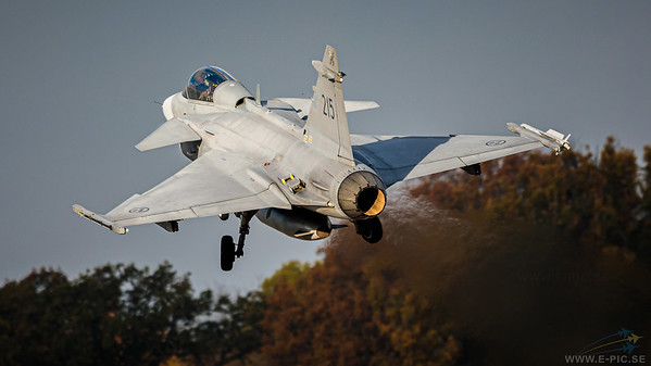 Saab JAS 39C Gripen - 215 armed with an IRIS-T missile
