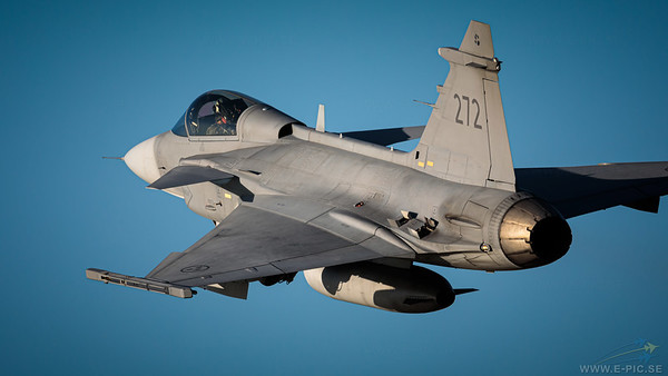 Saab JAS 39C Gripen - 272 carrying an IRIS-T missile