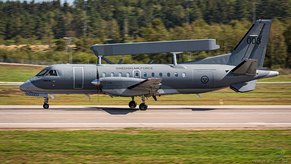 Saab TP 100 (SF340AEW), Argus, Swedish AIr Force