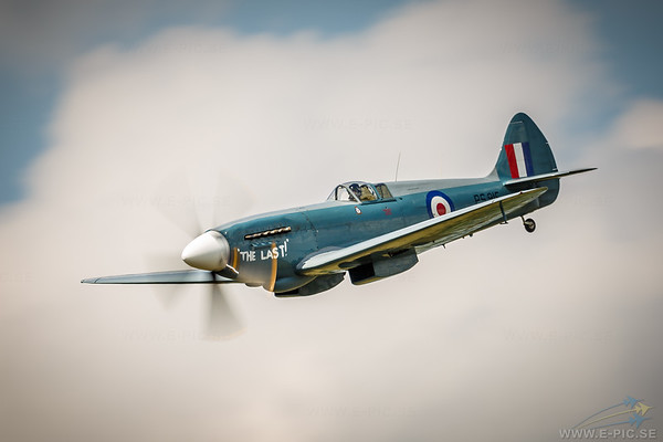 """High Rez and more Spitfire images here: <a href=""""http://www.e-pic.se/Aircraft/Aircraft-sorted-by-type/Supermarine/Supermarine-Spitfire/"""">http://www.e-pic.se/Aircraft/Aircraft-sorted-by-type/Supermarine/Supermarine-Spitfire/</a><br /> <br /> The Supermarine Spitfire is a British single-seat fighter aircraft that was used by the Royal Air Force and many other Allied countries before, during and after World War II. The Spitfire was built in many variants in greater numbers than any other British aircraft. The Spitfire continues to be popular among enthusiasts; about 54 remain airworthy.<br /> <br /> During the Battle of Britain, from July to October 1940, the Spitfire was perceived by the public to be the main RAF fighter, though the more numerous Hawker Hurricane shouldered a greater proportion of the burden against the Nazi German air force, the Luftwaffe. Spitfire units, however, had a lower attrition rate and a higher victory-to-loss ratio than those flying Hurricanes because of its higher performance. Spitfires in general were tasked with engaging Luftwaffe fighters (mainly Messerschmitt Bf 109E series aircraft which were a close match for the Spitfire) during the Battle.<br /> <br /> After the Battle of Britain, the Spitfire superseded the Hurricane to become the backbone of RAF Fighter Command, and saw action in the European, Mediterranean, Pacific and the South-East Asian theatres. Much loved by its pilots, the Spitfire served in several roles, including interceptor, photo-reconnaissance, fighter-bomber and trainer, and it continued to serve in these roles until the 1950s. The Seafire was a carrier-based adaptation of the Spitfire which served in the Fleet Air Arm from 1942 through to the mid-1950s. Although the original airframe was designed to be powered by a Rolls-Royce Merlin engine producing 1,030 hp (768 kW), it was strong enough and adaptable enough to use increasingly powerful Merlins and, in later marks, Rolls-Royce Griffon engines producing up to 2,34"""