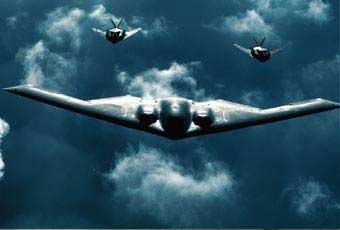 The B-2 Spirit is a multi-role bomber capable of delivering both conventional and nuclear munitions.