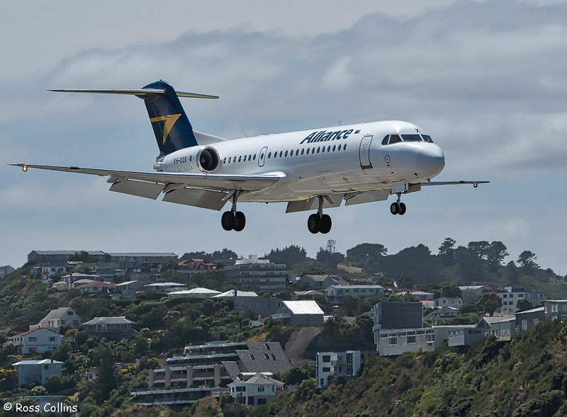 Alliance Airlines F70 VH-QQX at Wellington, 24 January 2019