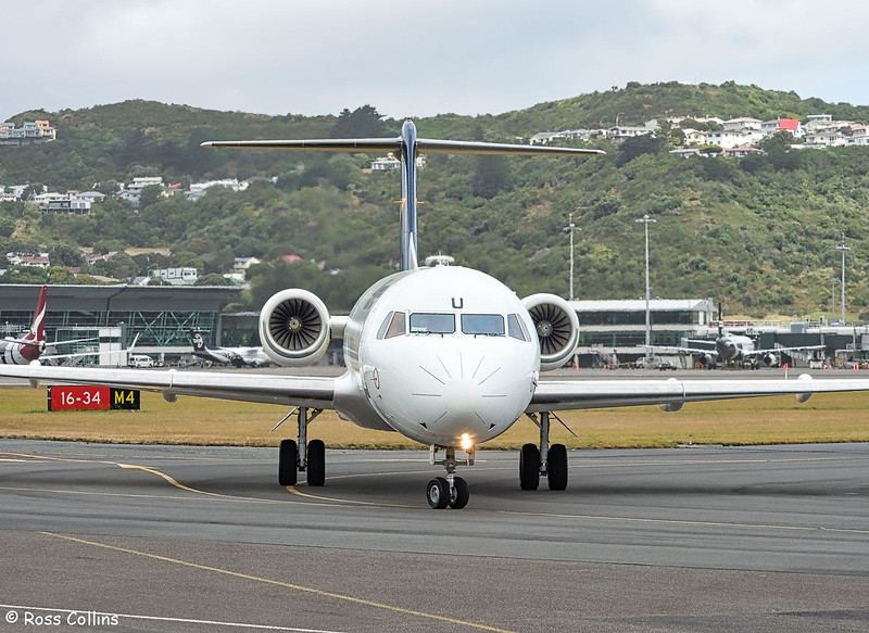 Alliance Airlines F70 VH-NKU at Wellington, 14 January 2019