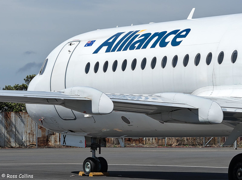 Alliance Airlines F70 VH-QQX at Wellington, 21 January 2019