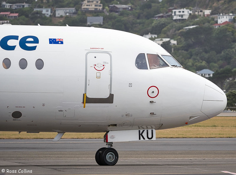 Alliance Airlines F70 VH-NKU at Wellington, 15 January 2019