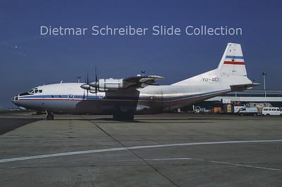 1986-07 YU-AID Antonov 12B (c/n 01348010) Yugoslavia Government