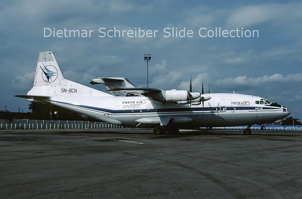 2001-10 5N-BCN Antonov 12B (c/n 9346409) Fresh Air