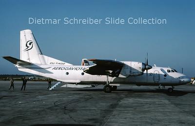 1997-03 CU-T1402 Antonov 26B (c/n 12605) Aerogaviota