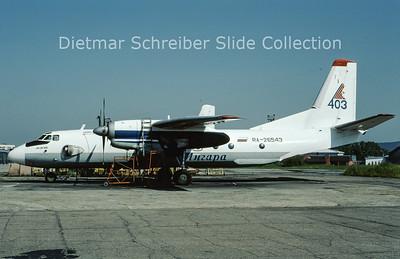 2009-07 RA-26543 Antonov 26 (c/n 2709) Angara Airlines