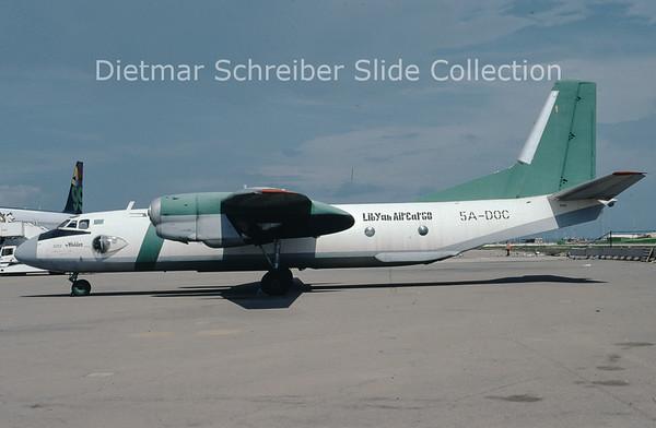 2009-10 5A-DOC Antonov 26B (c/n 12308) Libyan Air Cargo