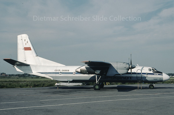 1990-07 CCCP-26669 Antonov 26 Aeroflot - Soviet Airlines