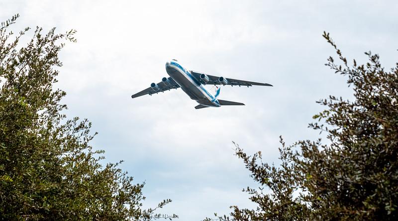 Antonov AN-124 (RA-82079) departing the NASA Kennedy Shuttle Landing Facility in Florida.