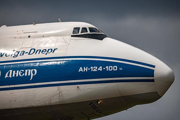 Antonov AN-124 (RA-82079) landing at SFB in Orlando, Florida.