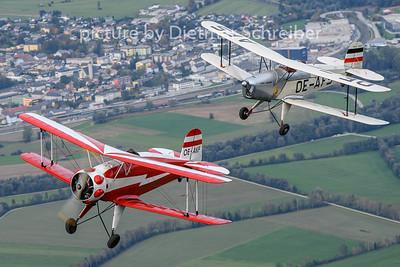 2020-10-09 OE-AFS Bücker Jungmann / OE-AKF Bücker Jungmeister