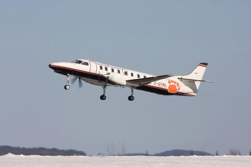 Bearskin flight JV 362 leaving Dryden. Captain G. Belliveau, FO Jason Walkey.