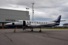 Bearskin has a new Metro: C-GJVB. Here she sits on the ramp in Dryden on a overcast day.<br /> <br /> When purchased by Bearskin, she had less than 1200 hours. And apparently C-GJVB is the second to last to run off the assembly line.