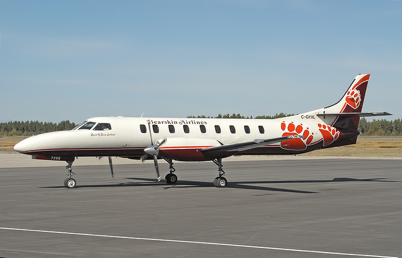 Bearskin Airlines new paint scheme. <br /> <br /> Out with the old, in with the new. New Metro, with new paint.