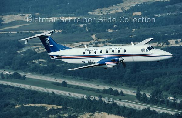 1985-09 N331CJ Beech 1900C (c/n UB-31) Colgan Airways