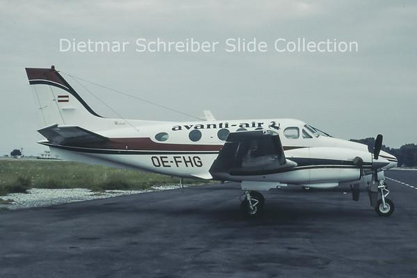1980-07 OE-FHG Beech C90 King Air (c/n LJ-900) Avanti Air